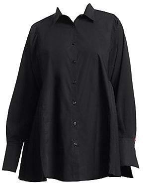 Marina Rinaldi Marina Rinaldi, Plus Size Marina Rinaldi, Plus Size Women's Pleated Button-Down Shirt