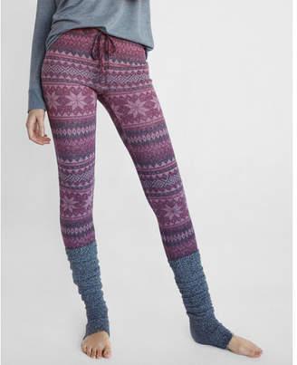 Express cozy fair isle leggings