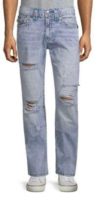 True Religion Slim-fit Distressed Jeans