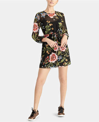 Rachel Roy Floral-Print Tie-Front Dress