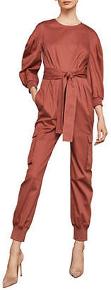 BCBGMAXAZRIA Pleated Cargo Jumpsuit