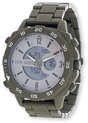 Steve Madden (スティーブ マデン) - Steve Maddenオリーブアナログ合金バンド腕時計