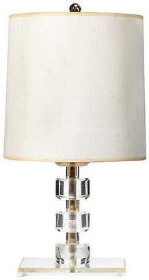 One Kings Lane Vintage 1950s Lucite Round Stacked Table Lamp