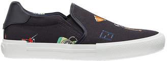 Fendi patch print slip on sneakers