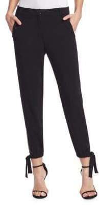 Halston Slim Fit Ankle Tie Pants
