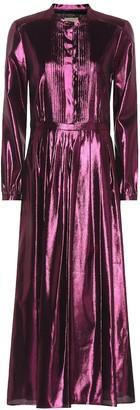 Burberry Metallic silk-blend maxi dress