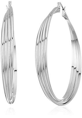 Kenneth Cole New York Womens Extra Large Trinity Rings Twisted Hoop Earrings