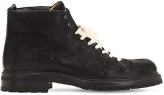 Alberto Fasciani Lace-Up Leather Ankle Boots