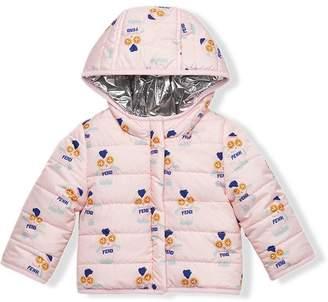 Fendi printed padded jacket