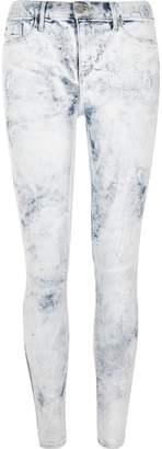 River Island Womens White acid wash paint effect Molly jeggings