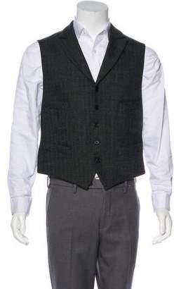 John Varvatos Wool Peak-Lapel Vest
