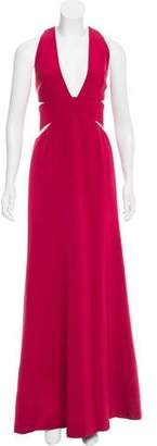 Kaufman Franco Kaufmanfranco Tulle-Accented Evening Dress
