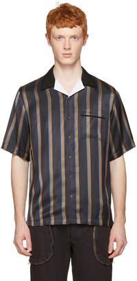 3.1 Phillip Lim Navy Striped Pyjama Shirt $425 thestylecure.com