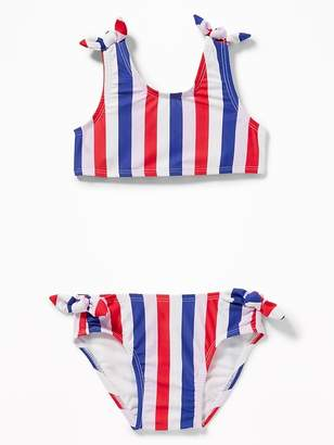1dc14f9e19981 Old Navy Knotted Bow-Tie Bikini Swim Set for Toddler Girls