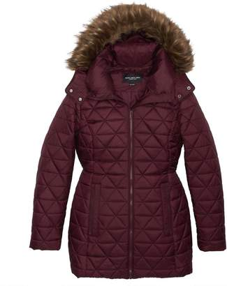 Andrew Marc CYPRESS QUILTED HOODED JACKET