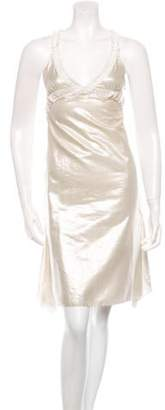 Nina Ricci Metallic Midi Sleeveless Dress w/ Tags silver Metallic Midi Sleeveless Dress w/ Tags