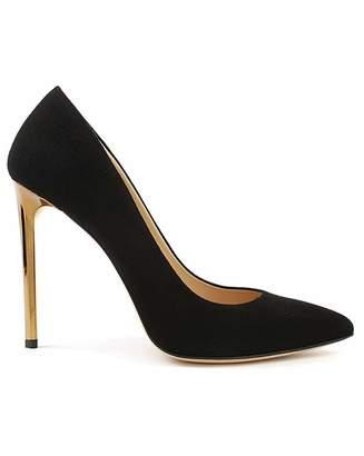 Daniel Footwear Daniel Meredith Gold Heel Court Shoes