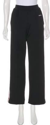 Givenchy High-Rise Wide-Leg Sweatpants