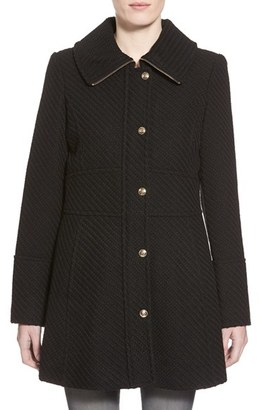 Women's Jessica Simpson Basket Weave Fit & Flare Coat $240 thestylecure.com