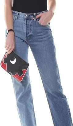 McQ Solestice Patent-leather Medium Pouch