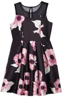 Blush by Us Angels Floral Fit & Flare Dress