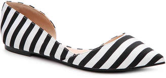 Women's Journee Collection Cortni Striped Flat -Black/White $75 thestylecure.com