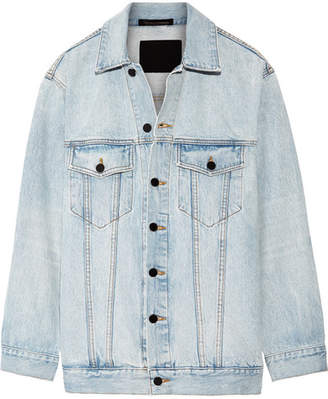 Alexander Wang - Daze Oversized Denim Jacket - Light denim $450 thestylecure.com
