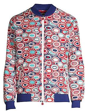 Kiton Men's Printed Bomber Jacket
