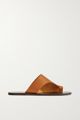 ATP Atelier Rosa Cutout Leather Slides - Tan