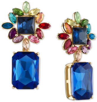 Rachel Roy Gold-Tone Multi-Stone Cluster Drop Earrings
