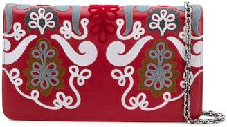 Casadei embroidered clutch bag