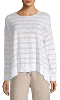 Eileen Fisher Striped Drape Top