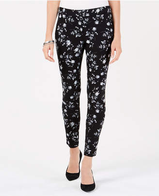 Alfani Floral-Print Skinny Pants