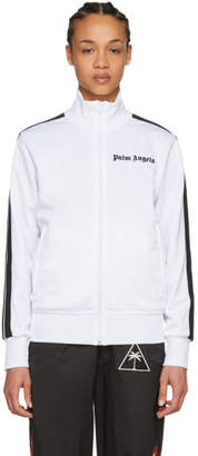 Palm Angels White and Black Logo Track Jacket