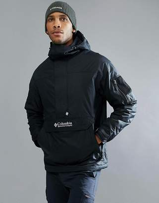 Columbia Challenger Pullover Jacket Hooded Insulated in Black