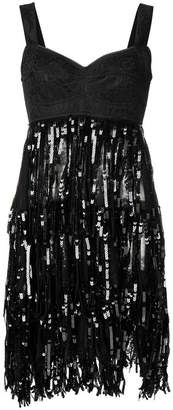 Dolce & Gabbana lace bodice sequinned dress