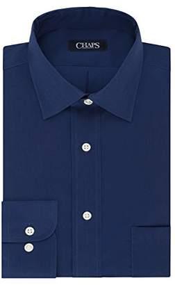 Chaps Men's Dress Shirt Regular Fit Stretch Collar Solid