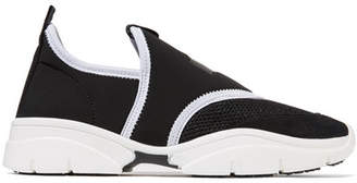 Isabel Marant Kaisee Mesh And Neoprene Slip-on Sneakers - Black