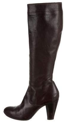 CNC Costume National Leather Round-Toe Knee-High Boots