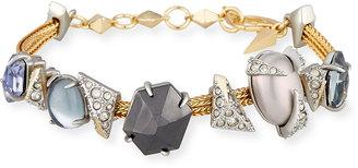 Alexis Bittar Crystal-Encrusted Soft Station Bracelet $210 thestylecure.com