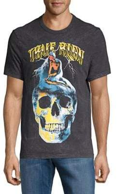 True Religion Washed Skull Graphic Tee