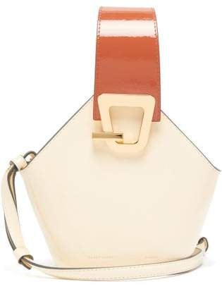 Danse Lente Johnny Mini Patent Leather Bucket Bag - Womens - Cream Multi