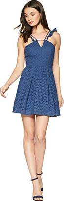 BCBGeneration Women's Flutter Sleeve Fit and Flare Dress