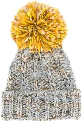 SuperDuper Hats Super Duper Hats contrast pom-pom beanie hat