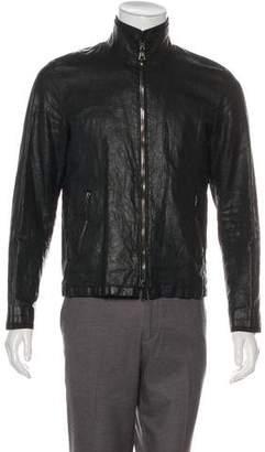 John Varvatos Linen Zip Jacket