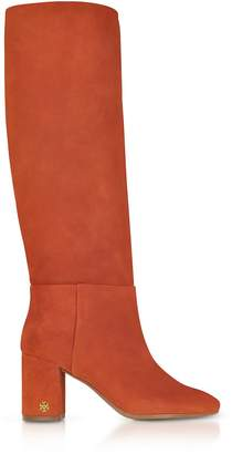 Tory Burch Brooke Desert Suede Spice Slouchy Boots