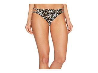 MICHAEL Michael Kors Thora Leopard Double Strap Bikini Bottom Women's Swimwear
