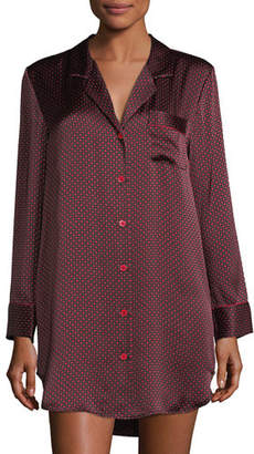 Neiman Marcus Printed Silk Sleepshirt