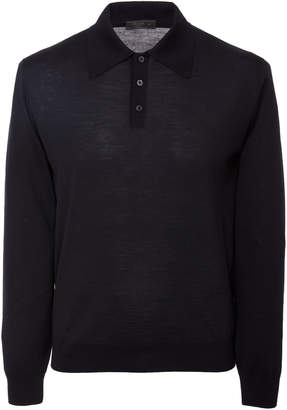 Prada Knit Wool Polo Shirt