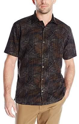 Van Heusen Men's Short-Sleeve Polynesian Printed Shirt